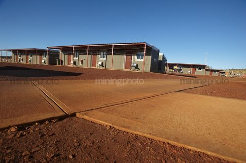Mine site  camp accomodation in remote mining site. - Mining Photo Stock Library