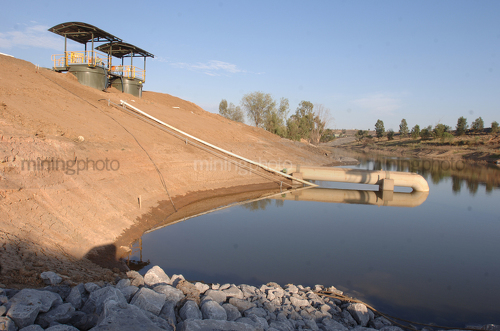 Pump station at mine site. - Mining Photo Stock Library