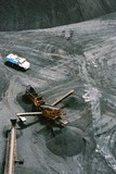Mining Photo Stock Library - aerial photo water truck and crusher in opencut mine  ( Weight: 1  New Image: NO)
