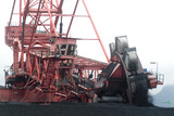 Mining Photo Stock Library - front on image of coal reclaimer working  at port facility ( Weight: 1  New Image: NO)
