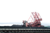 Mining Photo Stock Library - coal reclaimer working around stockpiled coal  ( Weight: 1  New Image: NO)