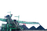 Mining Photo Stock Library - green ship loader stockpiling coal  at port facility ( Weight: 1  New Image: NO)