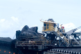 Mining Photo Stock Library - reclaimer loading coal at terminal  closeup and operating ( Weight: 1  New Image: NO)