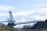Mining Photo Stock Library - coal reclaimer and loader working on stockpiled coal at shipping port ( Weight: 1  New Image: NO)