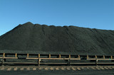 Mining Photo Stock Library - stockpiled coal with moving conveyor in foreground ( Weight: 4  New Image: NO)