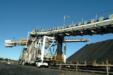 Mining Photo Stock Library - coal loader and conveyor stockpiling at rail port ( Weight: 4  New Image: NO)