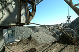 Mining Photo Stock Library - dragline working. bucket being filled.  shot from on board ( Weight: 1  New Image: NO)