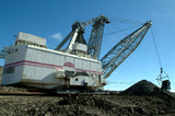 Mining Photo Stock Library - dragline excavator working in coal opencut ( Weight: 1  New Image: NO)