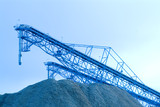 Mining Photo Stock Library - conveyors stockpiling sawdust/woodchips. clean blue image ( Weight: 1  New Image: NO)