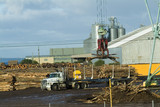 Mining Photo Stock Library - crane loading logs onto trailer in factory yard ( Weight: 4  New Image: NO)