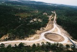 Mining Photo Stock Library - aerial shot of a roundabout being constructed on a highway ( Weight: 4  New Image: NO)