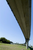 Mining Photo Stock Library - light rail train flyover bridge curving away into distance ( Weight: 2  New Image: NO)