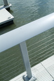 Mining Photo Stock Library - handrail in foreground with river pontoon and water in background ( Weight: 5  New Image: NO)