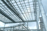 Mining Photo Stock Library - prefabricated steel roofing structure partly built ( Weight: 5  New Image: NO)