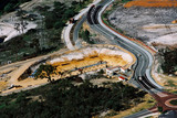 Mining Photo Stock Library - road highway detouring around tunnel bridge development ( Weight: 4  New Image: NO)