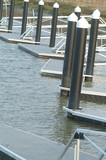 Mining Photo Stock Library - marina pilons and jetty's in canal property subdivision.  pontoon ( Weight: 1  New Image: NO)