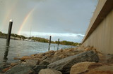 Mining Photo Stock Library - rainbow over water in waterfront property subdivision ( Weight: 1  New Image: NO)