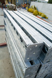 Mining Photo Stock Library - steel supports stacked on building site. ( Weight: 4  New Image: NO)