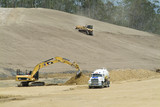 Mining Photo Stock Library - heavy machinery working on the building of a highway ( Weight: 1  New Image: NO)