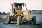 Mining Photo Stock Library - grader grading road surface of rural road ( Weight: 1  New Image: NO)