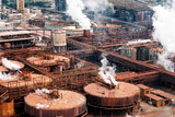 Mining Photo Stock Library - alumina refinery  cloeup shot from the air. ( Weight: 2  New Image: NO)