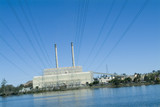 Mining Photo Stock Library - power station shot from the edge of the lake  ( Weight: 1  New Image: NO)