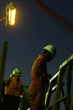 Mining Photo Stock Library - 2 drill rig workers on walkway in full PPE  ( Weight: 1  New Image: NO)