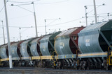 Mining Photo Stock Library - heavy rail freight train carriages idling ( Weight: 1  New Image: NO)
