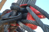 Mining Photo Stock Library - chain and cable shackles on drill rig mine site ( Weight: 1  New Image: NO)