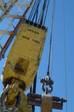 Mining Photo Stock Library - cable and chain attached to the derrick on an oil and gas drill rig ( Weight: 1  New Image: NO)