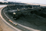 Mining Photo Stock Library - heavy rail carts emptying coal at wharf terminal ( Weight: 1  New Image: NO)