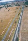 Mining Photo Stock Library - rural highway with heavy rail alongside.  aerial shot ( Weight: 1  New Image: NO)