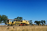 Mining Photo Stock Library - heavy rail track repair train in Western Australia in rural countryside ( Weight: 2  New Image: NO)