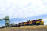 Mining Photo Stock Library - coal train being loaded by hopper via conveyor ( Weight: 2  New Image: NO)
