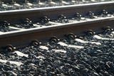 Mining Photo Stock Library - closeup of domestic rail track ( Weight: 1  New Image: NO)