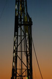 Mining Photo Stock Library - drill rig derrick closeup shot at sunset. ( Weight: 1  New Image: NO)
