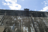 Mining Photo Stock Library - looking from ground level up at concrete dam wall. ( Weight: 1  New Image: NO)