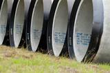 Mining Photo Stock Library - round concrete water pipes stacked ( Weight: 5  New Image: NO)