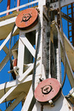 Mining Photo Stock Library - the large pulley systems on a drill rig derrick. ( Weight: 1  New Image: NO)