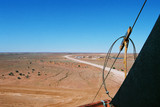Mining Photo Stock Library - Australian desert as seen from the top of a drill rig ( Weight: 5  New Image: NO)