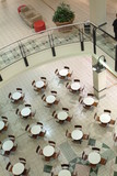 Mining Photo Stock Library - chairs and tables arranged inside a shopping centre.  shot from above ( Weight: 5  New Image: NO)
