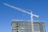 Mining Photo Stock Library - crane on building site with blue sky behind. very clean shot. ( Weight: 1  New Image: NO)