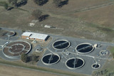 Mining Photo Stock Library - city water treatment plant operating. aerial shot. ( Weight: 4  New Image: NO)