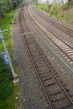 Mining Photo Stock Library - three train tracks - light rail through cutting ( Weight: 5  New Image: NO)