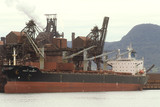 Mining Photo Stock Library - iron ore ship in port being loaded . ( Weight: 2  New Image: NO)