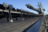 Mining Photo Stock Library - coal reclaimer linked to ship loader conveyor. shot at track level. ( Weight: 2  New Image: NO)