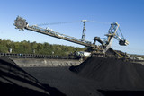 Mining Photo Stock Library - coal reclaimer at shipping terminal with stockpiles around ( Weight: 4  New Image: NO)