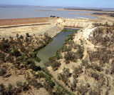 Mining Photo Stock Library - aerial of large Australian outback rural dam.  ( Weight: 1  New Image: NO)