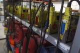 Mining Photo Stock Library - underground mine workers store for oxygen kits ( Weight: 5  New Image: NO)