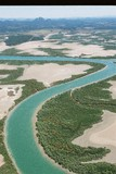 Mining Photo Stock Library - mangrove and waterway habitat.  shot from the air. ( Weight: 3  New Image: NO)
